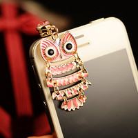 Colorful Owl Pendant Plugy for iPhone T21
