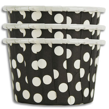 Black Polka Dot Nut Cups