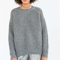 BDG Mixed Waffle Stitch Crew Neck Sweater - Urban Outfitters