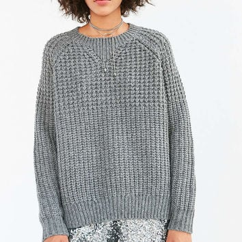 BDG Mixed Waffle Stitch Crew Neck Sweater from Urban Outfitters 95e32200f