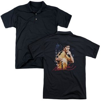 Bruce Lee - Yellow Jumpsuit (Back Print) Mens Regular Fit Polo