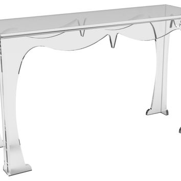 Console Agra  Table, Small, Acrylic / Lucite, Console Table