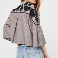 Free People Liya Embroidered Top