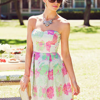 SPRINGHILL STRAPLESS DRESS