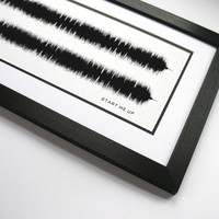 """Rolling Stones """"Start Me Up"""" - Sound Wave Band Poster Art Created - Keith Richards and Mick Jagger Music Art Canvas"""