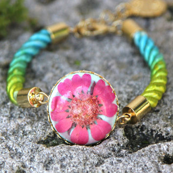 "Bracelet Chrysanthemum - ""A Bloom in the Sea"""