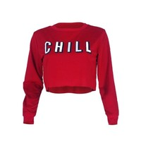 Chill Crop Top Sweatshirt