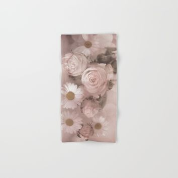 Pink Florals Hand & Bath Towel by Theresa Campbell D'August Art