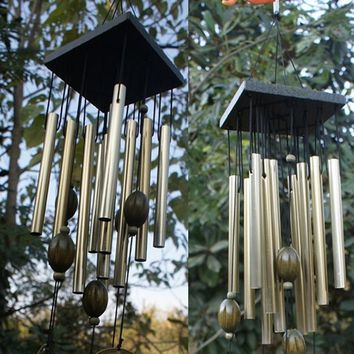 Creative 12 Tubes Copper Wind Chimes Bells Home Decor Birthday Gift