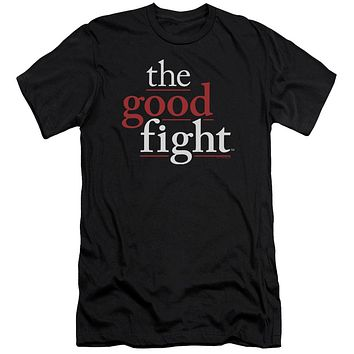 The Good Fight Premium Canvas T-Shirt Logo Black Tee