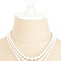 50's__Vintage__Multi Pearl Necklace