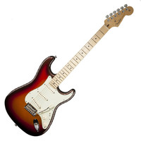 Fender American Deluxe Stratocaster Plus Electric Guitar with Maple Fingerboard - Mystic 3-Color Sunburst at Hello Music