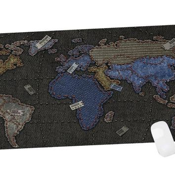 """CENNBIE The Vintage Map Gaming Mouse Pad Large with an Optimized Textured Surface/Non-slip Rubber Base Extended Mouse Mat