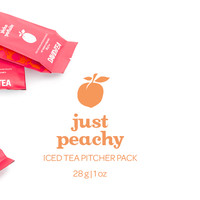 Just Peachy Pitcher Pack - This Fruity Iced Tea Is Packed With The Juicy Flavour Of Ripe Summer Peaches | DavidsTea