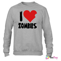 I Heart Zombies Crewneck sweatshirtt