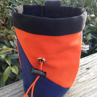 Auburn blue and orange Chalk Bag for Climbing