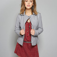 Quilted Faux Leather Moto Jacket | Wet Seal