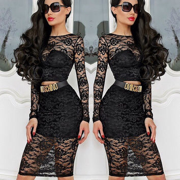 Portia & Scarlett Raquel lace 2 piece dress