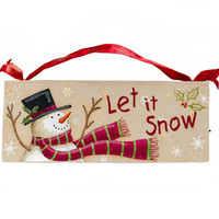 Christmas decor~ Christmas wall or table top sign~ Christmas decoration~ Let It Snow