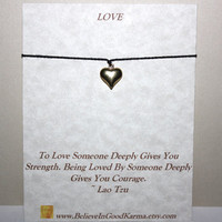 Puffy Heart Wish Bracelet - Smooth Bright Gold Finish