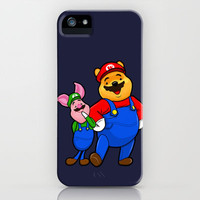 Winnie Pooh Mario and Piglet Luigi iPhone Case by Olechka | Society6