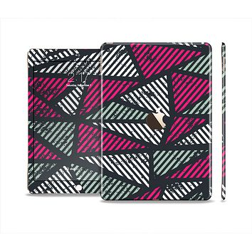 The Abstract Striped Vibrant Trangles Skin Set for the Apple iPad Air 2