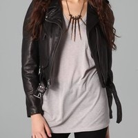 ONE by Moto Leather Jacket