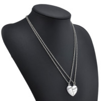 """Beautiful Mother Daughter Necklace Heart Love Mom Necklaces & Pendants """" FREE SHIPPING """""""