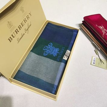 BURBERRY Woman Fashion Accessories Sunscreen Cape Scarf Scarves-Blue