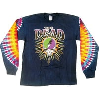 Grateful Dead Men's  Steal Your Lightning Tie Dye  Long Sleeve Multi Rockabilia