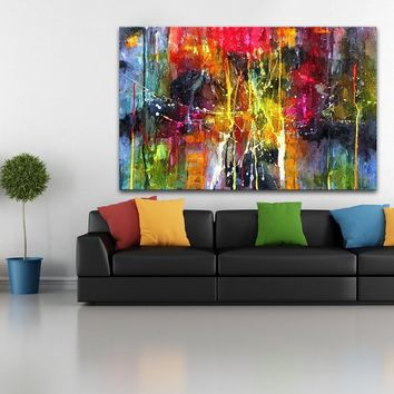 Large size Printing Oil Painting Wall painting abstract Wall Art Picture For Living Room painting no frame