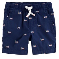 4th Of July Easy Pull-On Poplin Shorts