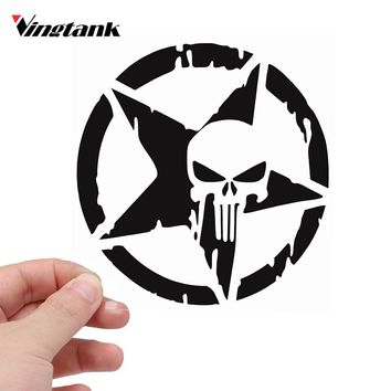 Vingtank Cool Star Skull Car Sticker Car Sticker Decals Window Wall Sticker Car Styling Auto Accessories