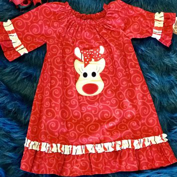 Banana Split Rocking Reindeer Dress