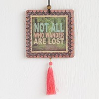 Car  Air  Fresheners:  Not  All  Who  Wander  Tassel  Air  Freshener  From  Natural  Life