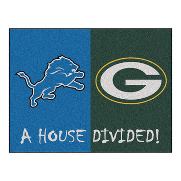Detroit Lions-Green Bay Packers NFL House Divided NFL All-Star Floor Mat (34x45)