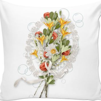 Floral  WE WANT TO MAKE SURE YOUR PRODUCT ROCKS!  We recommend your artwork be a minimum of 150dpi.  For more information on uploading guidelines, click here. Custom Couch Pillow