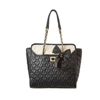 Betsey Johnson Be my Wonderful Flapover Tote Black/Marshmellow - Zappos.com Free Shipping BOTH Ways