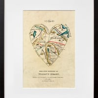 A Map of the Open Country of a Woman's Heart, by D.W. Kellogg & Co.  - 20x200