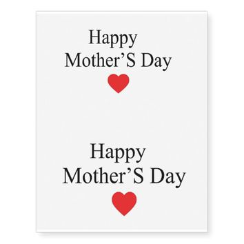 Happy Mother's Day Temporary Tattoos
