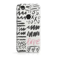 Love Scribbles Phone Case - Love Pattern Phone Case - Abstract Phone Case - Fun Phone Case - iPhone 8 - Galaxy S9