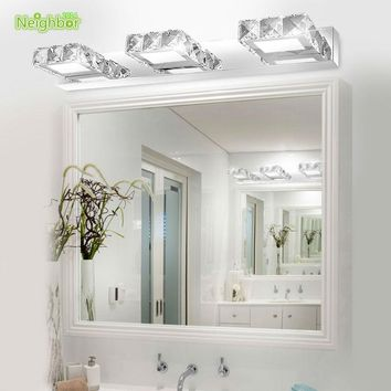 Modern LED indoor wall light lamps banheiro deco bathroom mirror light  Acrylic shade crystal sconce for home lighting fixtures