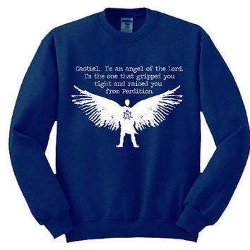 SALE - Castiel Sweatshirt - Many sizes available - Supernatural Winchester Dean Sam Hipster Girls Teen Shirt Hoodie