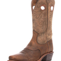 Ariat Men's Heritage Roughstock Square Toe Boot - Earth/Brown Bomber
