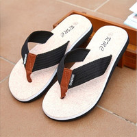Men's Antiskid Flip-flops England tide Leisure Summer Cool  Slippers Beach Sandals [9303535562]