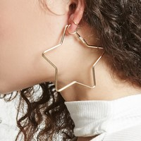 Star Shape Hoop Earrings