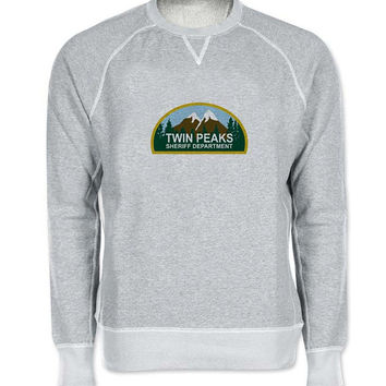 twin peaks sweater Gray Sweatshirt Crewneck Men or Women for Unisex Size with variant colour