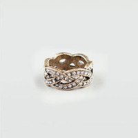 FULL TILT Braided Rhinestone Ring          212398621 | Rings | Tillys.com