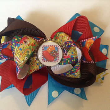 Candy Crush Inspired Hair Bow