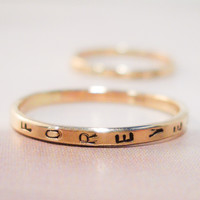 Custom Stamped Gold Ring